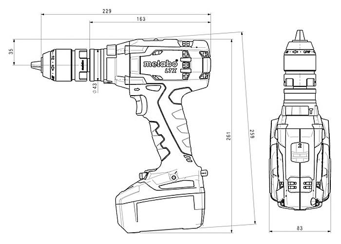 Аккумуляторный шуруповерт METABO SB 18 LTX Quick Каркас