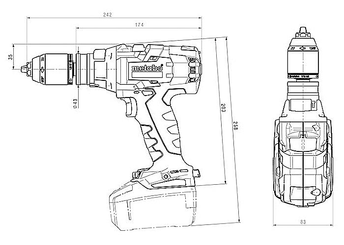 Аккумуляторный шуруповерт METABO SB 18 LTX-3 BL I (5,2 Ач)