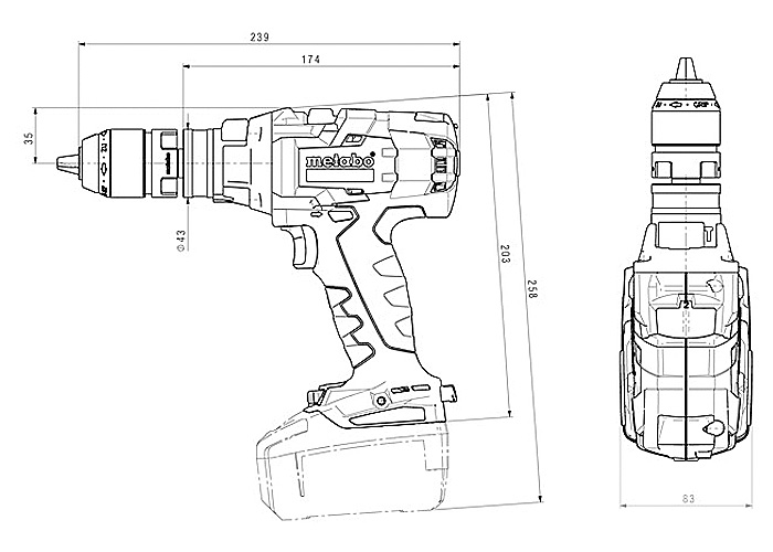 Аккумуляторный шуруповерт METABO SB 18 LTX-3 BL Q I Каркас