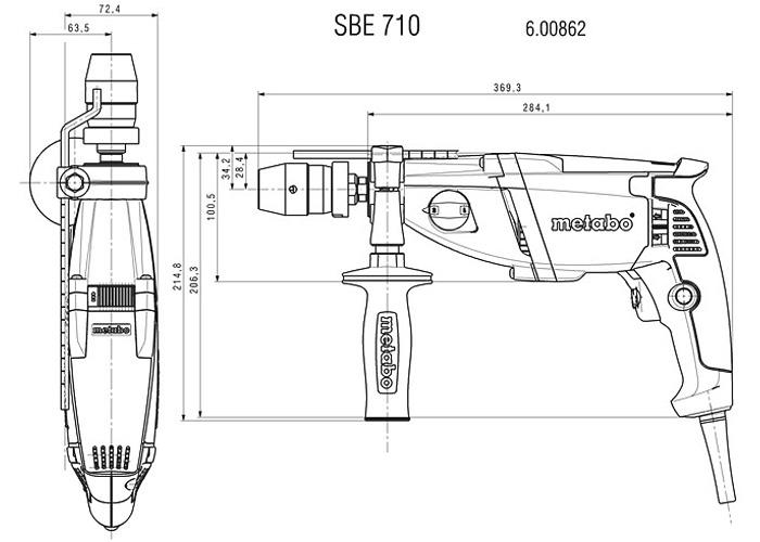 Ударная дрель METABO SBE 710