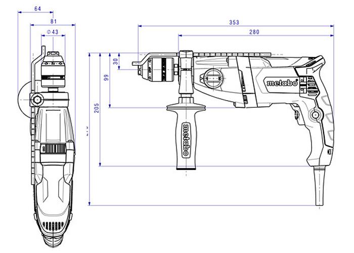 Ударная дрель METABO SBE 850-2 (БЗП Futuro Plus)