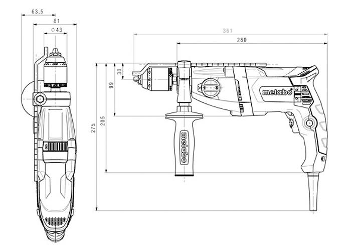 Ударная дрель METABO SBE 850-2 S