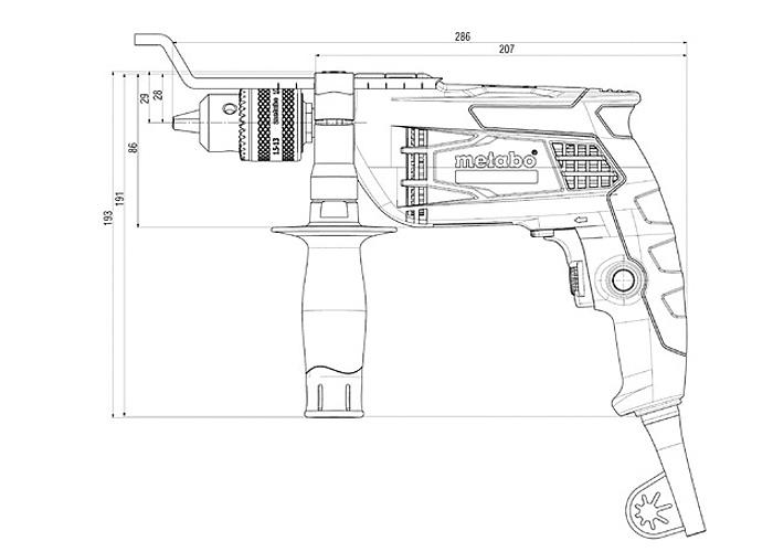 Ударная дрель METABO SBE 650 (БЗП)