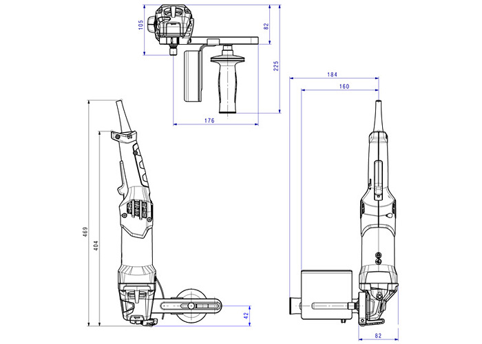 Щеточная шлифмашина METABO SE 17-200 RT