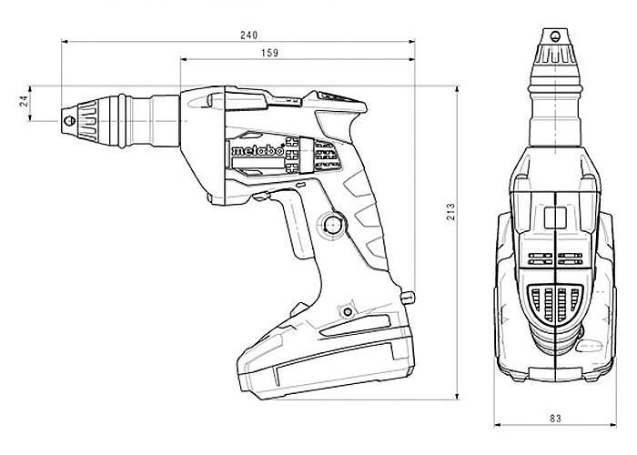 Аккумуляторный шуруповерт для гипсокартона METABO SE 18 LTX 4000 Каркас