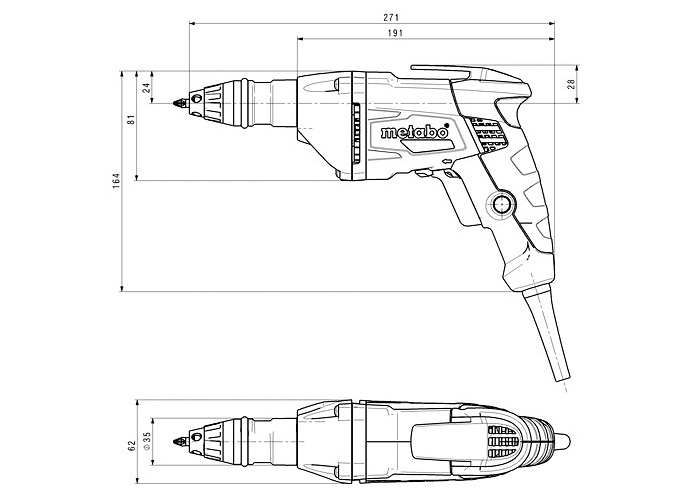 Шуруповерт для гипсокартона METABO SE 2500