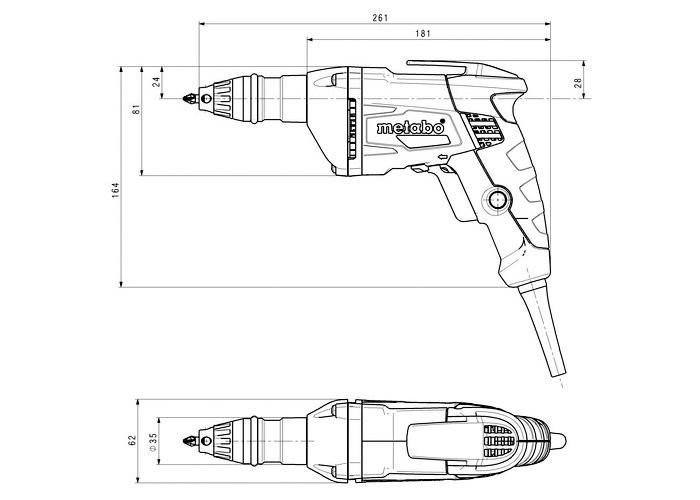 Шуруповерт для гипсокартона METABO SE 4000 + SM 5-55