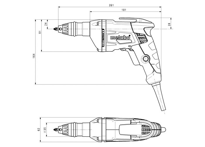 Шуруповерт для гипсокартона METABO SE 6000