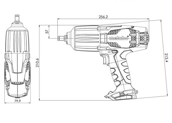 Аккумуляторный ударный гайковерт METABO SSW 18 LTX 600 (4,0 Ач)