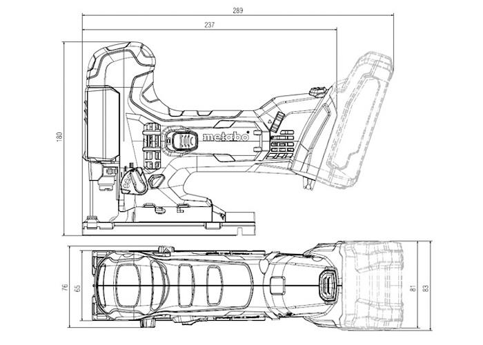 Аккумуляторный лобзик METABO STA 18 LTX 100 Каркас + MetaLoc
