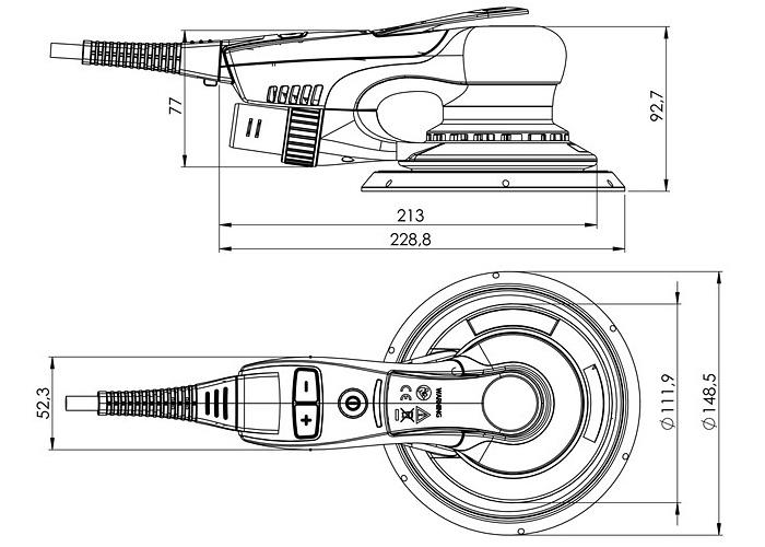 Эксцентриковая шлифмашина METABO SXE 150-2.5 BL