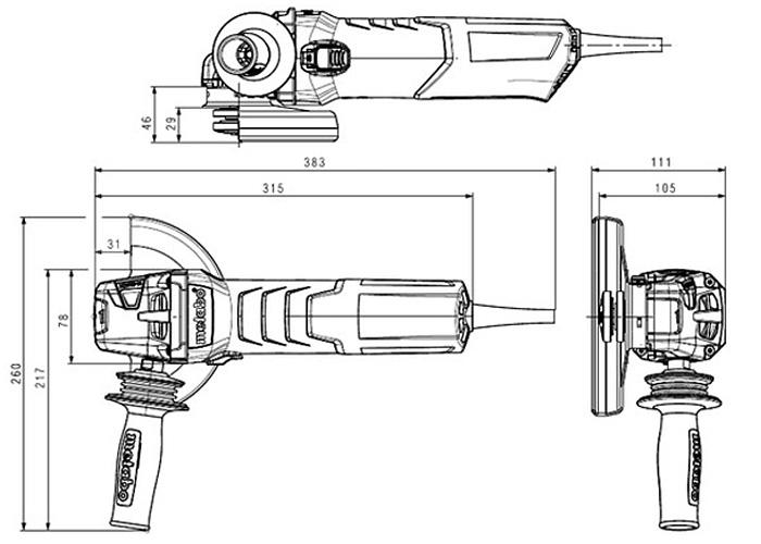 Болгарка METABO W 12-125 Quick