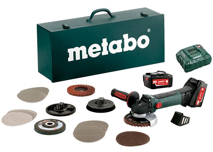 Аккумуляторная болгарка METABO W 18 LTX 125 Quick Inox Set