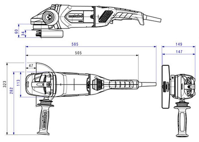 Болгарка METABO W 26-180 MVT (А)