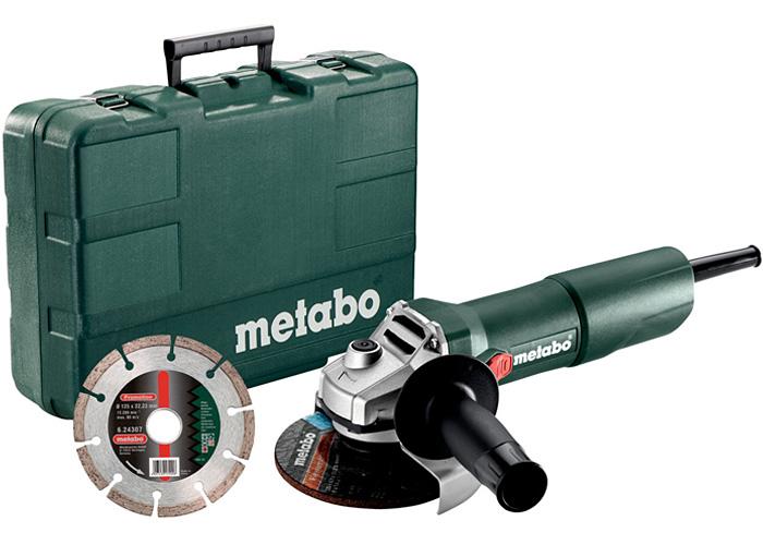 Болгарка METABO W 750-125 (ЗПП) + кейс + алмазный диск