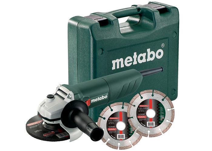 Болгарка METABO W 850-125 (ЗПП) + кейс