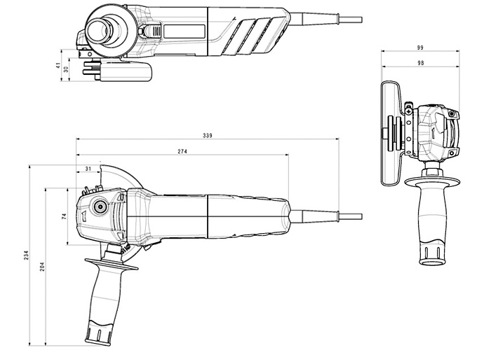 Болгарка METABO W 850-115 (ЗПП)