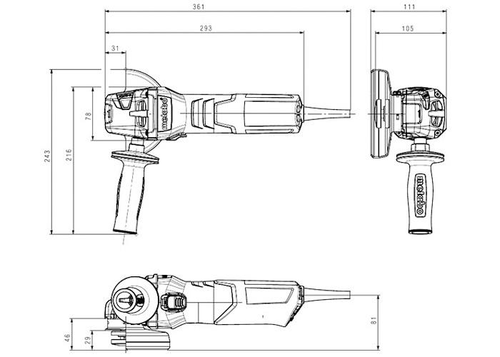 Болгарка METABO W 9-115 Quick (ЗПП)