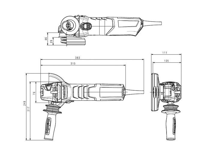 Болгарка METABO W 12-125 Quick (ЗПП)