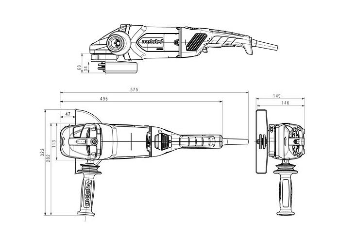 Болгарка METABO W 22-180 MVT (А)