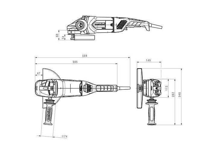 Болгарка METABO WEA 26-230 MVT Quick