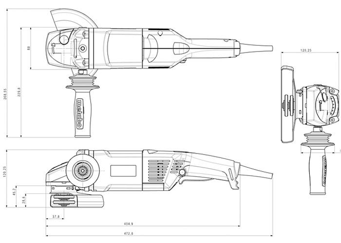 Болгарка METABO WX 17-150