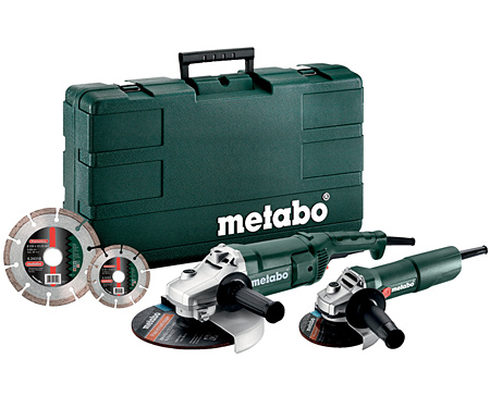 Болгарка METABO WE 2200-230 + W 750-125 + 2 x Diamond Disc + Case