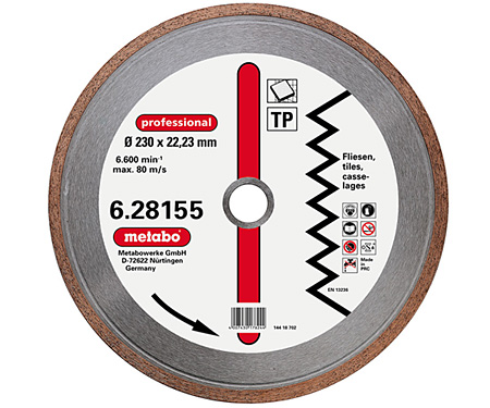 Алмазный круг по керамике METABO Professional TP 180 мм (628154000)