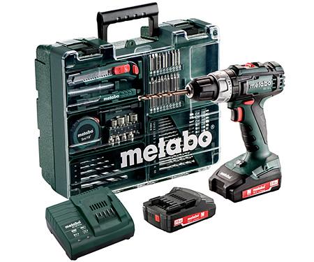 Аккумуляторный шуруповерт METABO BS 18 L Set Mobile Workshop