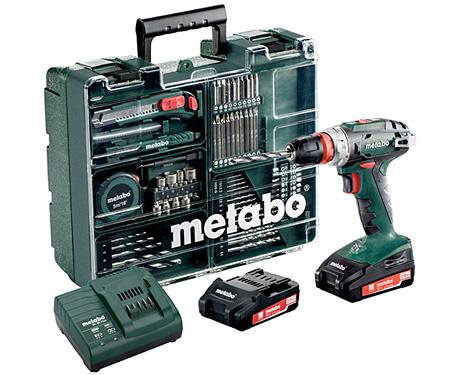 Аккумуляторный шуруповерт METABO BS 18 Quick Set  Mobile Workshop