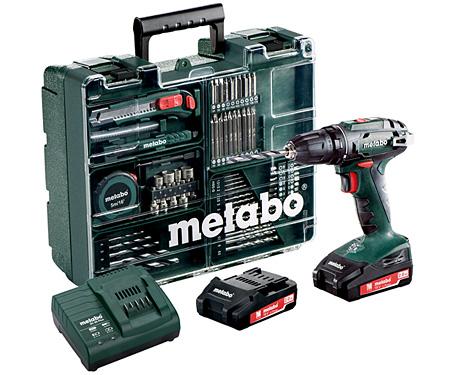 Аккумуляторный шуруповерт METABO BS 18 Set (БЗП 13 мм)