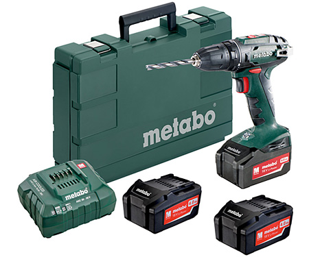 Аккумуляторный шуруповерт METABO BS 18 Set (3 x 4,0 Ач)