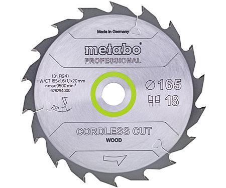 Пильный диск METABO Cordless Cut Wood Professional 165 мм (628294000)