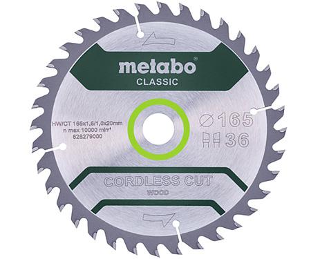 Пильный диск METABO Cordless Cut Wood Classic 165 мм (628279000)