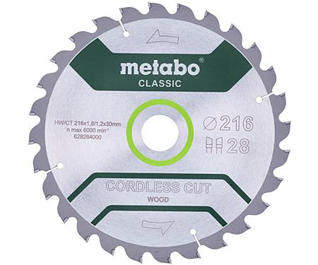 Пильный диск METABO Cordless Cut Wood Classic 216 мм (628665000)