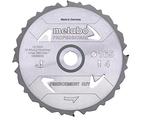 Пильный диск METABO Fibercement Cut Professional 165 мм (628289000)
