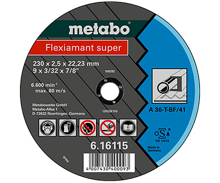 Отрезной круг  METABO Flexiamant super 180 мм (616111000)