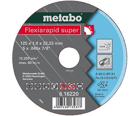 Отрезной круг  METABO Flexiarapid super 180 мм (616226000)