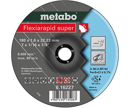 Отрезной круг  METABO Flexiarapid super 180 мм (616227000)