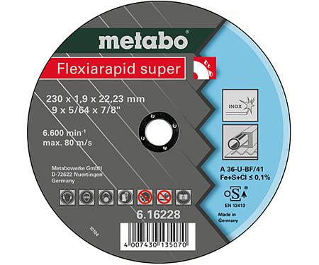 Отрезной круг  METABO Flexiarapid super 230 мм (616228000)