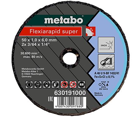 Отрезной круг  METABO Flexiarapid Super Inox 76 мм (630195000)