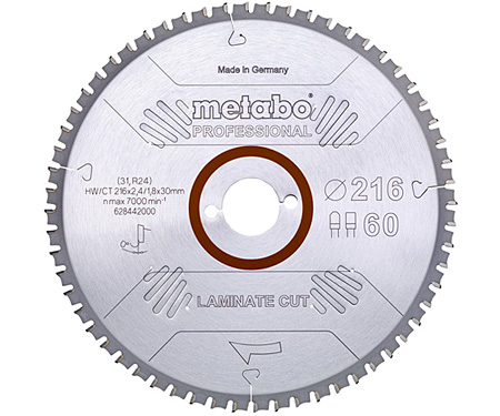 Пильный диск METABO Laminate Cut Professional 216 мм (628442000)