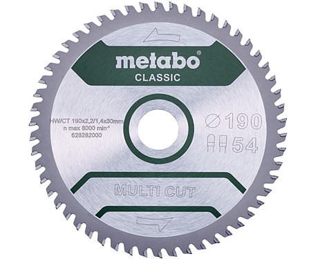Пильный диск METABO Multi Cut Classic 190 мм (628282000)