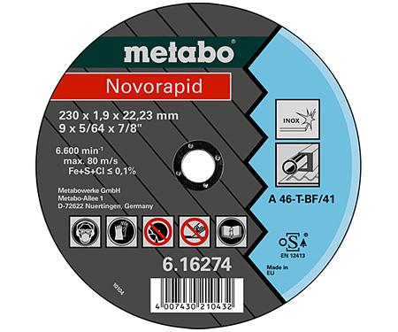 Отрезной круг  METABO Novorapid 230 мм (616274000)