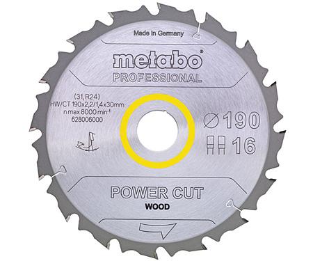 Пильный диск METABO Power Cut Wood Professional 165 мм (628292000)