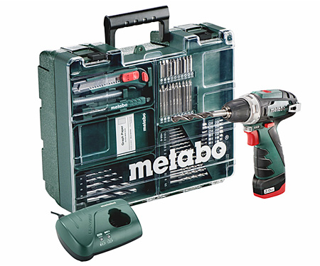 Аккумуляторный шуруповерт METABO PowerMaxx BS Set