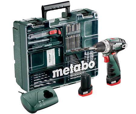 Аккумуляторный шуруповерт METABO PowerMaxx BS Basic Mobile Workshop NEW