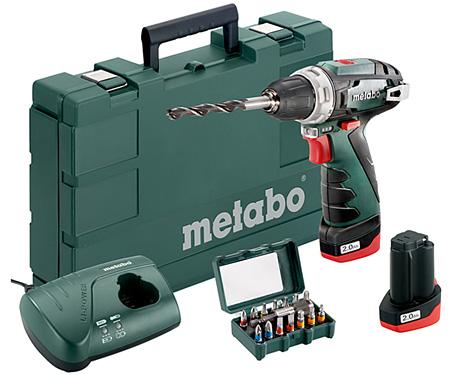 Аккумуляторный шуруповерт METABO PowerMaxx BS Basic Set + набор бит SP (15 шт.)