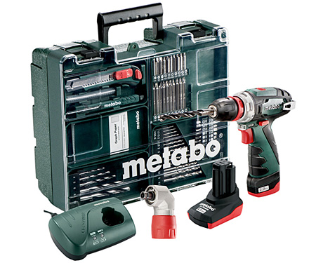 Аккумуляторный шуруповерт METABO PowerMaxx BS Quick Pro Set