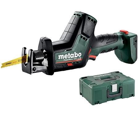 Аккумуляторная сабельная пила METABO PowerMaxx SSE 12 BL Каркас + MetaLoc